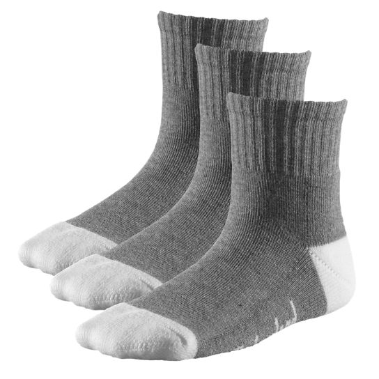 Kids Timberland Kids' Basic Cotton Blend Quarter Socks (3-Pack) TK391020