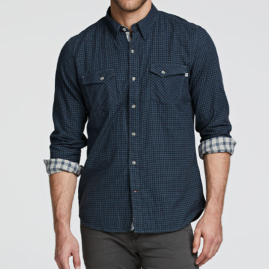 Men Timberland Branch River Double-Layer Plaid Shirt A1OAY420