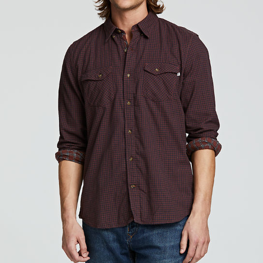 Men Timberland Branch River Double-Layer Plaid Shirt A1OAY210