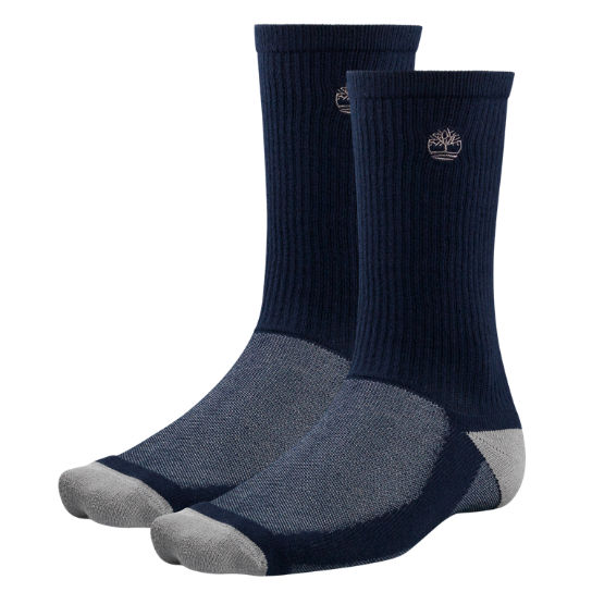 Men Timberland CoolMax® Polyester Crew Socks (2-Pack) TH155410