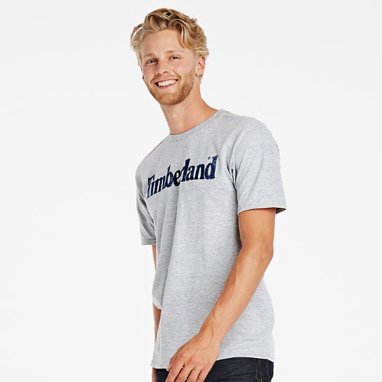 Men Timberland Faded Linear Logo T-Shirt A11GY052