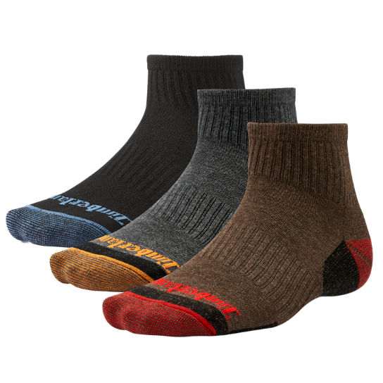 Men Timberland Low Quarter Socks (3-Pack) A1E42001