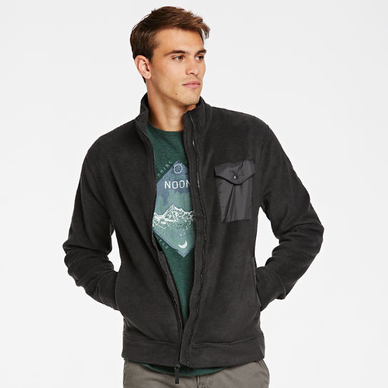 Men Timberland Mixed-Media Full-Zip Fleece Jacket A1NFS001