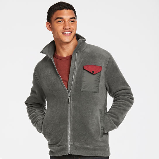Men Timberland Mixed-Media Full-Zip Fleece Jacket A1NFS028