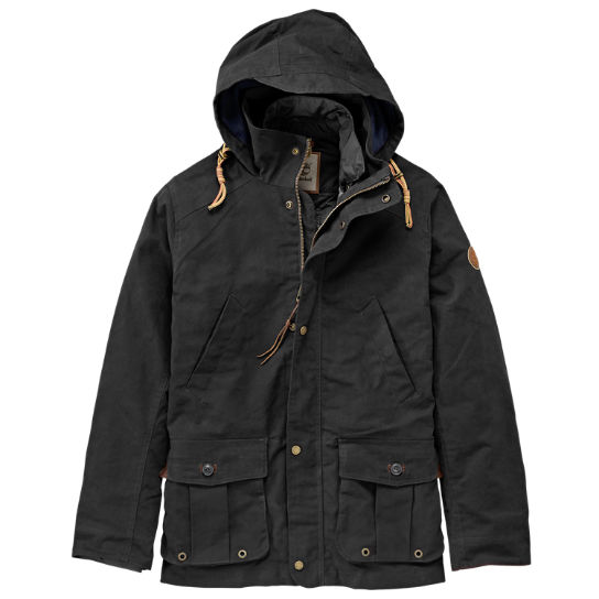 Men Timberland Mount Davis 3-in-1 Waxed Canvas Jacket A1C9Q001