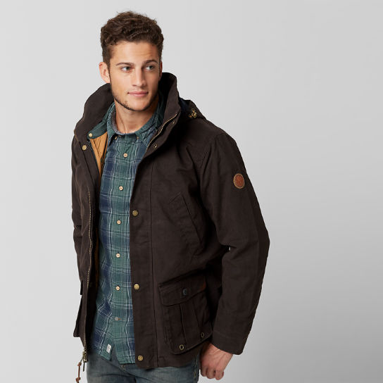 Men Timberland Mount Davis 3-in-1 Waxed Canvas Jacket A1C9Q201