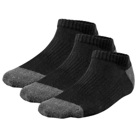 Men Timberland No-Show Crew Socks (3-Pack) A17HF001
