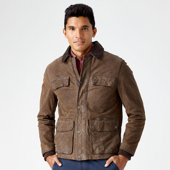Men Timberland Tenon Leather Field Jacket A1AEY968