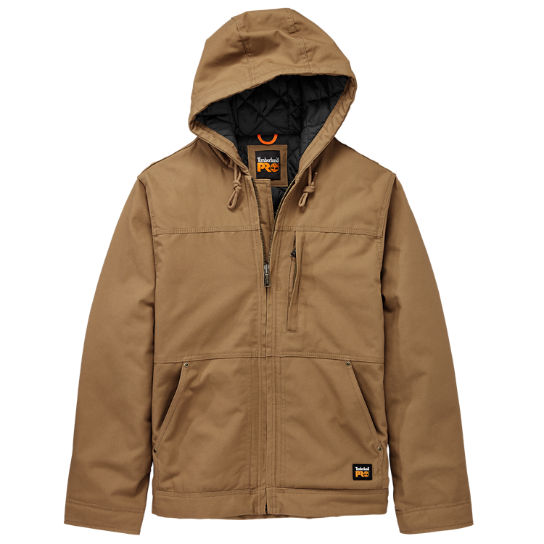 Men Timberland PRO® Baluster Hooded Insulated Canvas Work Jacket A1HVE701