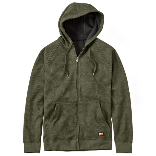 Men Timberland PRO® Downdraft Full-Zip Thermal Hoodie A12C7301
