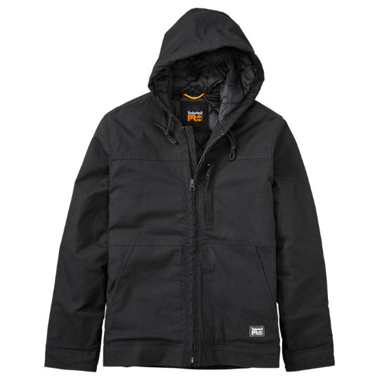 Men Timberland PRO® Baluster Hooded Insulated Canvas Work Jacket A1HVE015