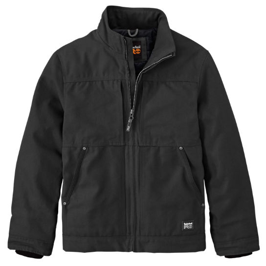 Men Timberland PRO® Baluster Insulated Canvas Work Jacket A11A3015