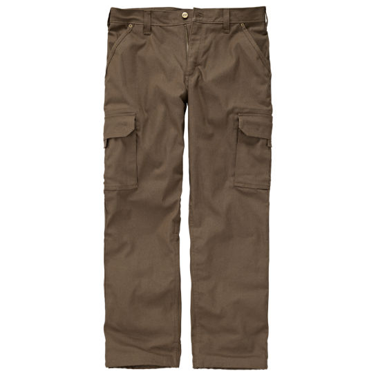 Men Timberland PRO® Gridflex Flannel-Lined Canvas Work Pant A11AE242