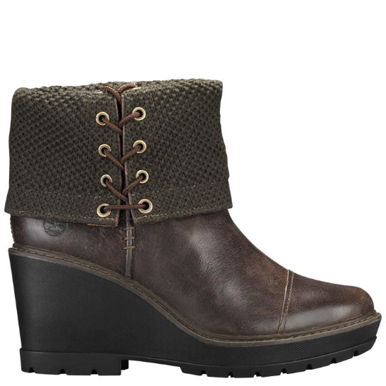 Women Timberland Kellis Wedge Fold-Down Boots A1JY5901