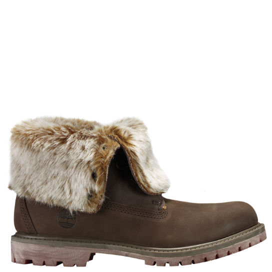 Women Timberland Authentics Faux Fur Fold-Down Boots A19D5901