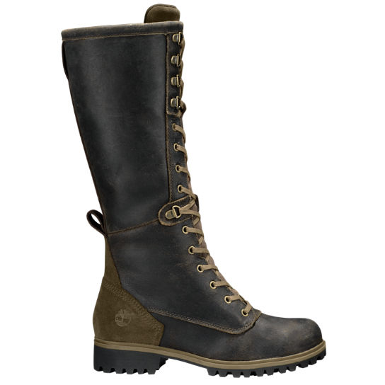 Women Timberland Wheelwright Tall Lace-Up Waterproof Boots A166Q901